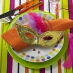 Prato decorado com máscara. (Foto: Divulgação)