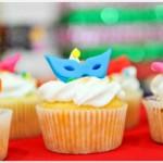 Uma ideia saborosa: cup cake de Carnaval