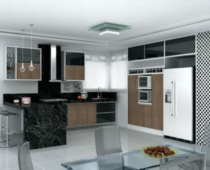 Cozinha planejada sofisticada.