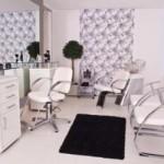 Salão de beleza simples e sofisticado