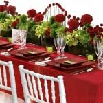 Mesa decorada para recepcionar os convidados