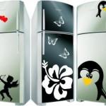 Os adesivos conseguem transformar a geladeira
