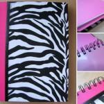 Estampa de zebra inovou o caderno.