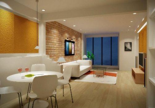 Ambientes integrados compõem a área social da casa.