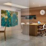 Ambiente amplo para estudos, decorado com estilo