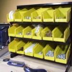 Se preocupe com o armazenamento organizado de peças pequenas.