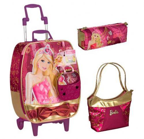 Mochilas Barbie Escola de Princesas com rodinhas: preço