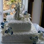 Bolo de casamento com duas camadas  (Foto:Divulgação)