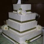 Bolo de casamento quadrangular (Foto:Divulgação)
