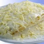 Lasanha aos quatro-queijos