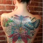 Tatuagem de borboleta nas costas (Foto:Divulgação)