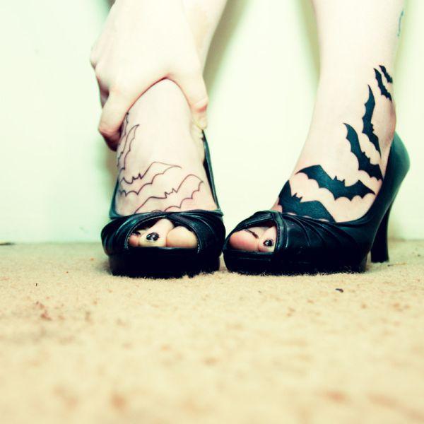Modelos de tatuagens no pé – fotos
