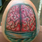 Tatuagem de cérebro  (Foto:Divulgação)