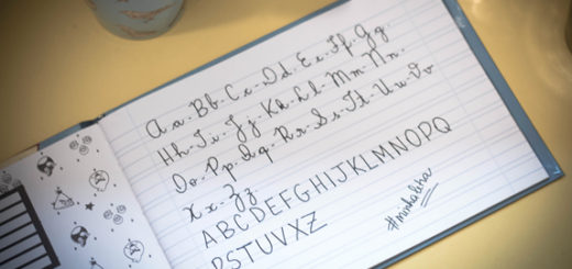 caderno de caligrafia para amigos com letras feias