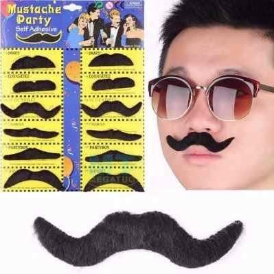cartela de bigodes para amigo sem barba