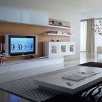 A mobília moderna foi adaptada para a LCD ou LED.