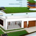 O telhado verde é uma boa dica para deixar a casa sustentável