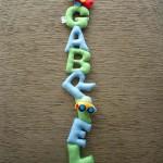 Enfeite com o nome do bebê(Foto:Divulgação)