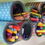 Latas recicladas para decorar. (Foto: Divulgação)