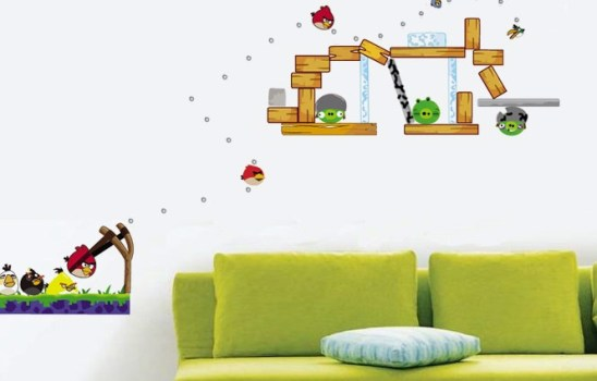 Adesivo decorativo do Angry Birds