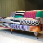 Sofa de retalhos coloridos (Foto:Divulgaçao)