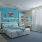 A parceria entre as cores azul e branco contribui com o relaxamento.