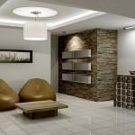 Iluminação artificial de uma sala moderna (Foto: Divulgação)