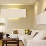 Sala com iluminação nas paredes (Foto: Divulgação)