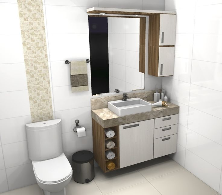 Armários para banheiros pequenos – Fotos, dicas