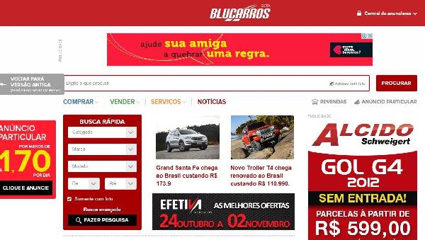 site blucarros.com.br