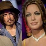 Bonecos de cera: Angelina Jolie e Johnny Depp (Foto: Divulgação)