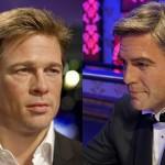 Bonecos de cera: Brad Pitt e George Clooney (Foto: Divulgação)
