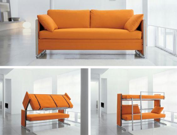Fotos de camas diferentes for Sofa que vira beliche
