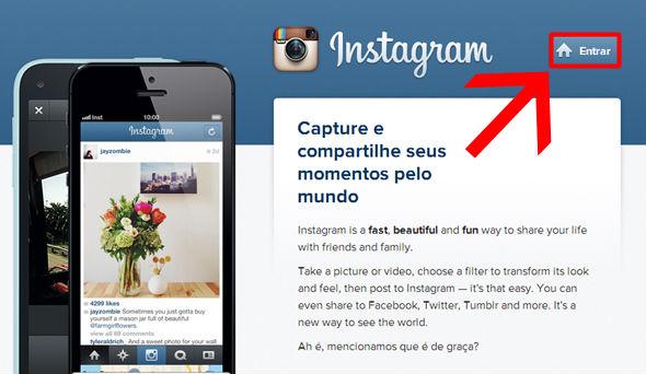 Instagram login, entrar no instagram