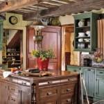 Os móveis exibem traços clássicos, antigos.