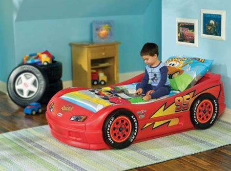 A cama infantil temática vai motivar a criança a dormir no quarto.