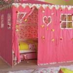 Cama infantil para quarto de menina.