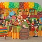 Muitas cores para deixar a festa alegre e divertida.