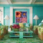 O turquesa combinado a outras cores deixou o ambiente mais alegre.