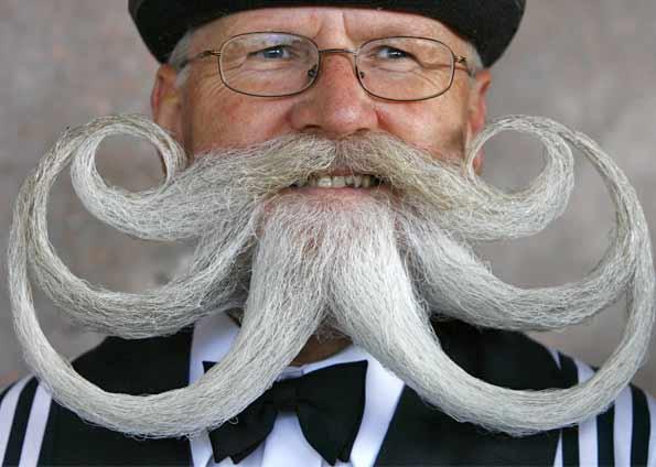 Barbas e bigodes diferentes: fotos