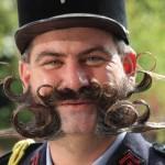 Barbas e Bigodes diferentes - Estilo Encaracolado