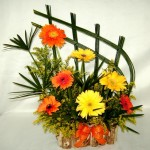 Arranjo com flores - Gerberas