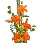 Arranjo com flores - Lírios
