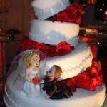 Bolo de Noiva Divertido