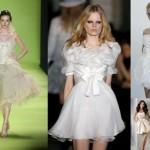 Vestidos de Noiva Curto - Corte Marcante na Cintura