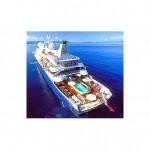 Iate Sea Dream - Muito luxuoso pode ser alugado para passeios, reuniões e outros. seu aluguel semanal é de US$ 700 mil