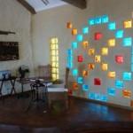 Tijolos de vidro na decoração formas de usar, fotos 7