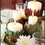 São diversos os objetos que podem ser usados para a decoração no centro de mesa.