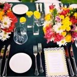 É muito agradável aos olhos poder apreciar um bonito centro de mesa.