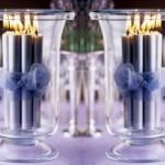 Um ambiente com luz de velas proporciona um ar de romantismo.